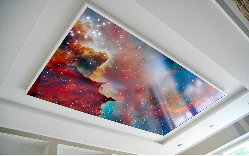 Как сделать натяжной потолок звёздное небо