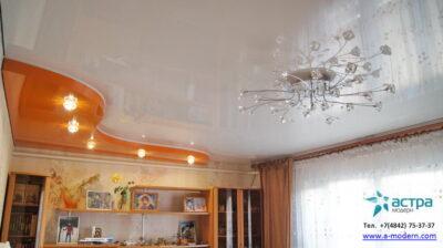 Фото двхуровнего потолка