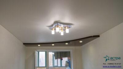 Фото коричневого натяжного потолка