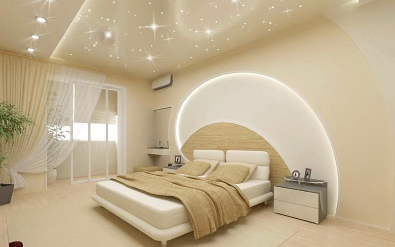 Фото потолка в спальне