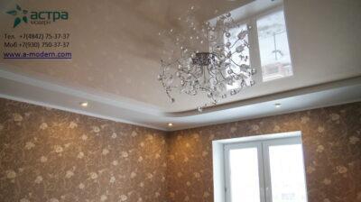 Фотография многуровнего натяжного потолка калуга