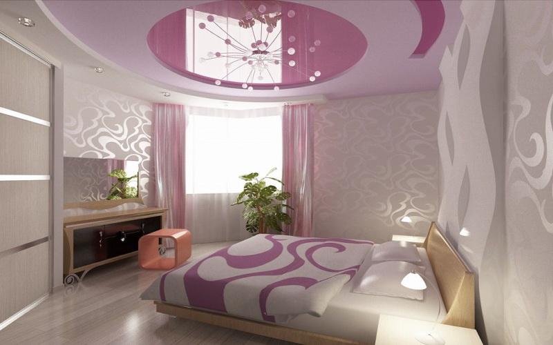 Фотография потолка в спальне