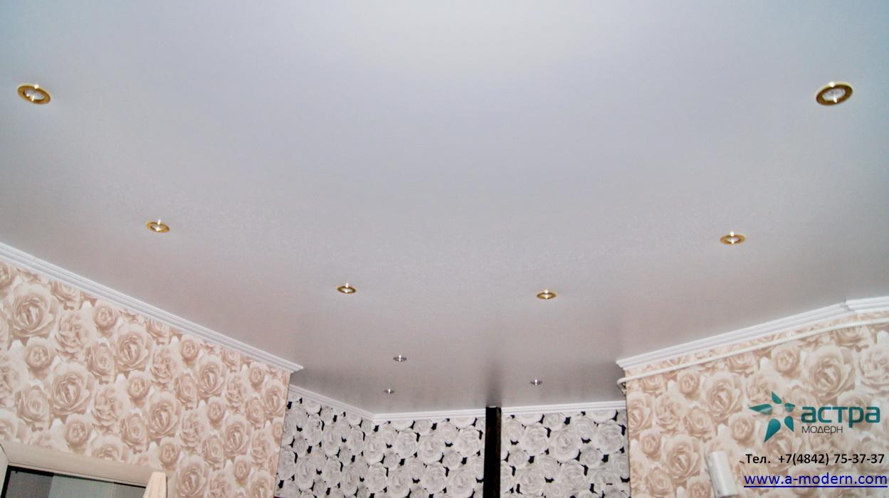 Сатиновый натяжной потолок калуга