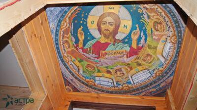 фото натяжного потолка с фотопечатью фреска