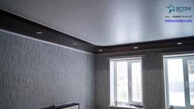натяжной двухуровневый потолок калуга