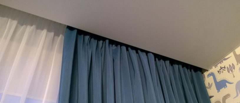 Ниши для штор в натяжном потолке