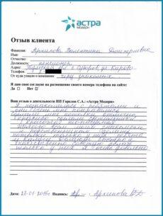 Отзыв Архипова 2015
