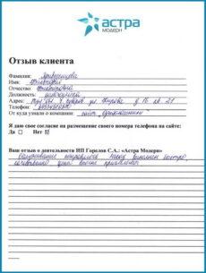 Отзыв Привизенцева 2014