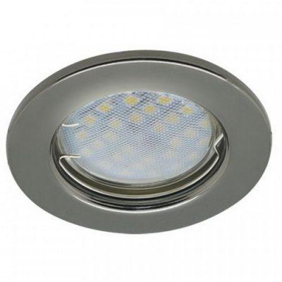 Светильник Ecola Light MR16 GU5.3 плоский Черный хром