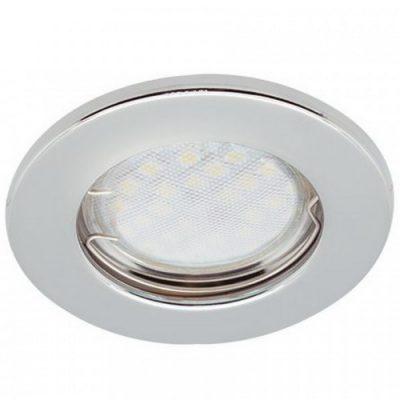Светильник Ecola Light MR16 GU5.3 плоский Хром