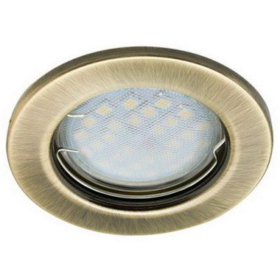 Светильник Ecola Light MR16 GU5.3 плоский Медь Бронза
