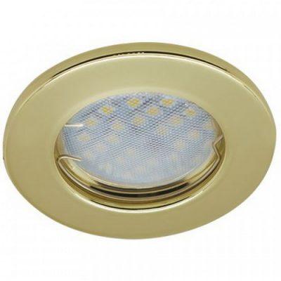 Светильник Ecola Light MR16 GU5.3 плоский Золото