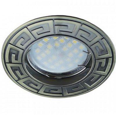 Светильник Ecola MR16 GU5.3 встр. литой Антик Черная бронза