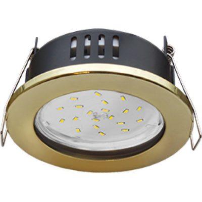 Светильник влагозащищенный Ecola GX53 IP65, золото