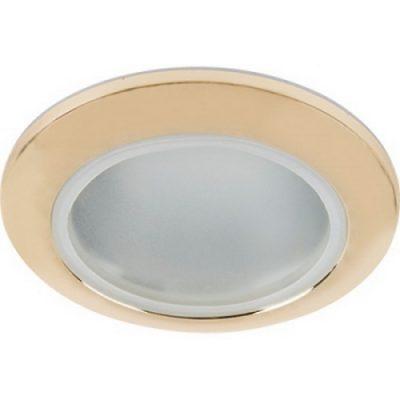 Светильник влагозащищенный Ecola MR 16, IP65, золото