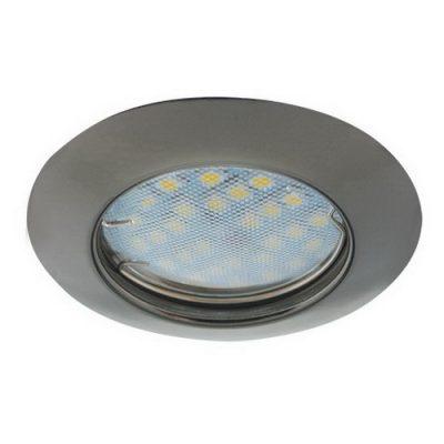 Светильник Ecola Light MR16 GU5.3 выпуклый Черный хром