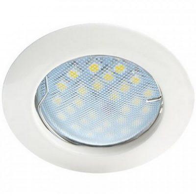 Светильник Ecola MR16 GU5.3 встр. литой. Белый