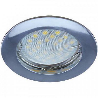 Светильник Ecola MR16 GU5.3 встр. литой. Хром