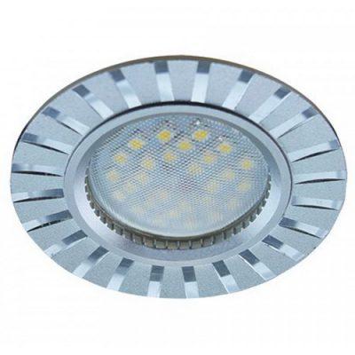 Светильник Ecola MR16 GU5.3 встр. литой. Полоски. Алюминий