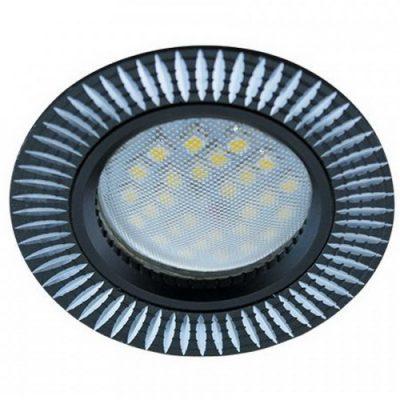 Светильник Ecola MR16 GU5.3 встр. литой. Реснички. ЧерныйАлюминий