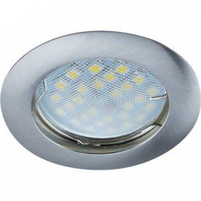 Светильник Ecola MR16 GU5.3 встр. литой. Сатин хром
