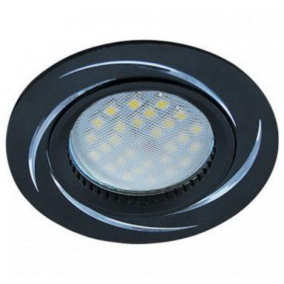 Светильник Ecola MR16 GU5.3 встр. литой. Вихрь. ЧерныйАлюминий
