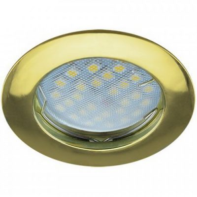 Светильник Ecola MR16 GU5.3 встр. литой. Золото