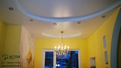 Многоуровневый натяжной потолок калуга