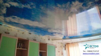 небо на натяжном потолке калуга