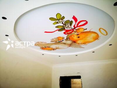 Натяжной потолок с фотопечатью 1-1