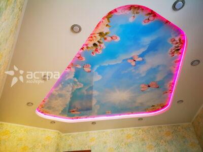 натяжной потолок с подсветкой 1-1