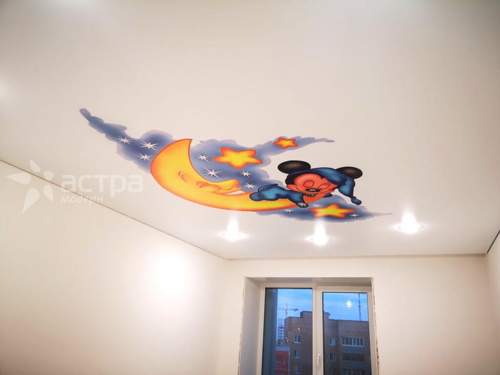 натяжной потолок калуга с фотопечатью мики маус