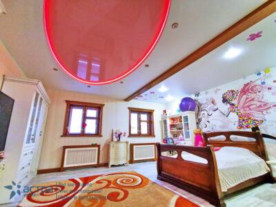 Многоуровневый натяжной потолок с подсветкой 1-1