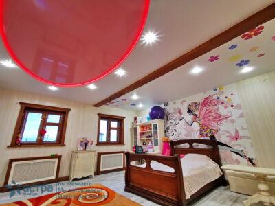 Многоуровневый натяжной потолок с подсветкой 1-4