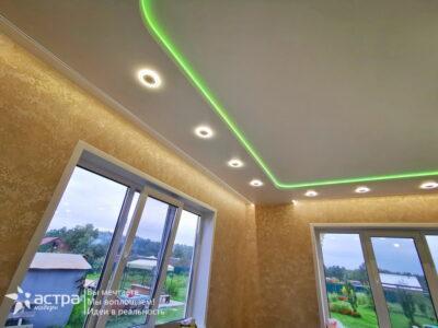 Многоуровневый натяжной потолок 1-1