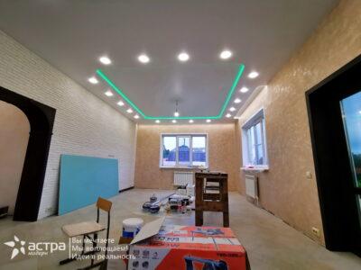 Многоуровневый натяжной потолок 1-2