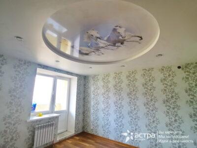 Двухуровневый натяжной потолок с подсветкой Калуга 1-2