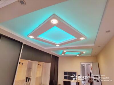 Натяжной потолок с подсветкой Калуга 1-1