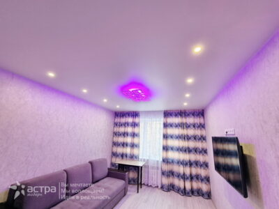 Натяжной потолок в зале Калуга 1-1