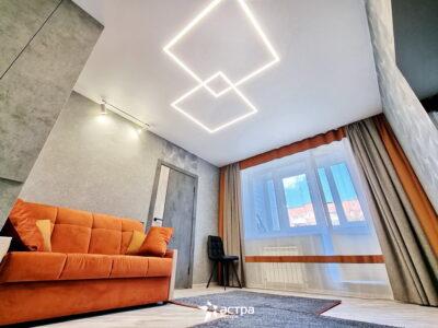 Натяжной потолок световая линия квадрат в квадрате